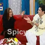 Mathira discussing her Condom Add with Nida Yasir in a Live Show