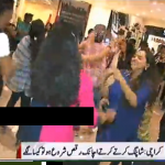 Boys and Girls are Dancing to Attract Customers in Karachi