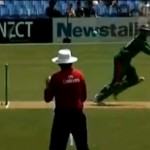 Death of an Umpire in a Cricket Match