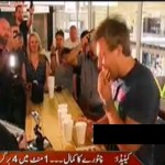 An Incredible Man Ate 4 Burgers in One Minute