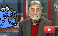 A caller in Bolta Pakistan asks Nusrat Javed if his videos of dancing with girls are real?
