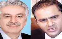 Conflict Between Khawaja Asif and Abid Sher Ali