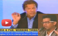 An indian asks Imran Khan why he didn't share stage with Salman Rushdie 2 years ago