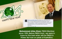 A PMLN Voter Reply on New year wishes from his party.