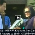 Symbol of Peace – PTI MPA Khurram Sher Zaman Presented White Flowers to Sindh Assembly Members