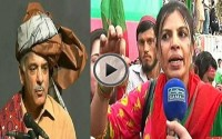 PTI Female Supporter presents Bangles to Shabhaz Sharif & suggested 'Shahnaz Sharif' as new name of Shabhaz Sharif