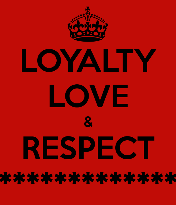 Love And Respect: Share You Thoughts On Love, Loyalty And Respect
