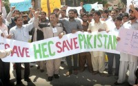 Teachers-Students-Protest-in-Islamabad-for-HEC