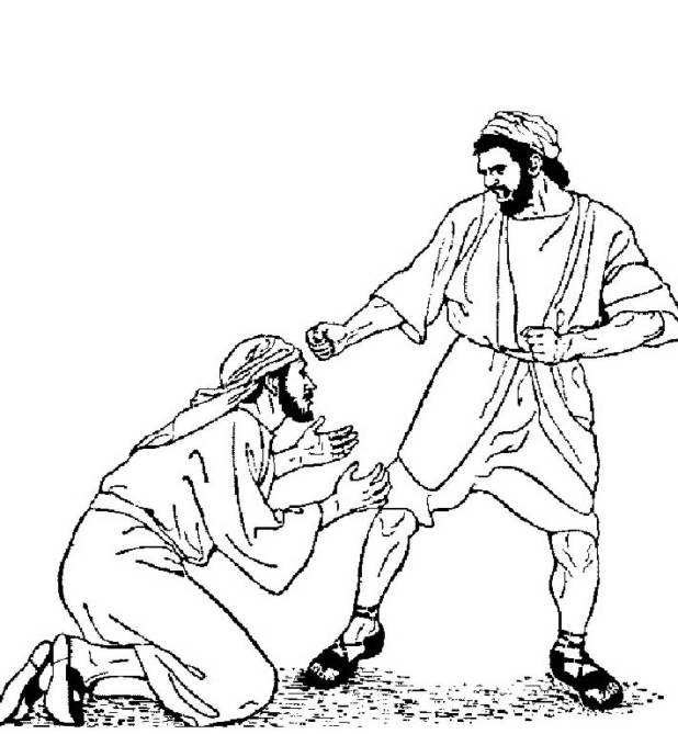 parable of the unforgiving servant coloring page - the unmerciful servant coloring pages
