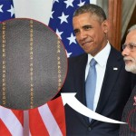 "Modi was wearing Rs 10-lakh suit with named ""stripes"" during Obama's Visit : Rahul Gandhi TOI (Ache Din:)"